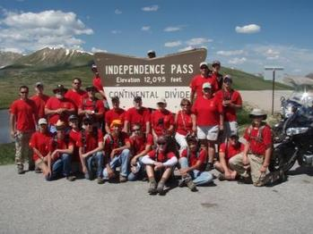 Colorado high adventure trip planned by Tim Kenyon 2010